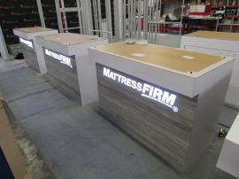 (5) Custom Reception Counters with Backlit Graphics, Wireless Charging, and Locking Storage
