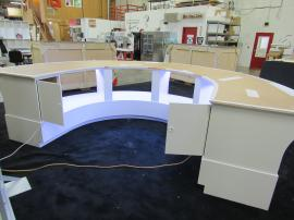 Custom 3-Section Circular Counter with Storage